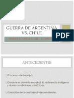 Guerra de Argentina vs Chile