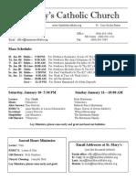 Bulletin for January4, 2015