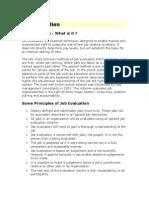 Job Evaluation Guideline