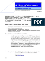 COMBINED EFFECTS OF STOCKING DENSITY AND BACKGROUND COLOUR ON GROWTH PERFORMANCE AND SURVIVAL