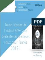 Voeux 2015 de l'Institut G9+