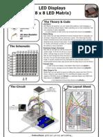 Arduino Led Display (8 x 8 Led Matrix)-Guide