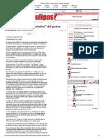 """19-09-14 HoyTamaulipas - Gobernadores """"Botados"""" Del Poder"""