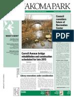 Takoma Park Newsletter - January 2015
