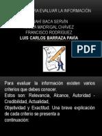5.- Criterios Para Evaluar La Información