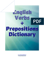 English Verbs Prepositions Dictionary