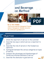 Week 11-12  Food and Beverage Service Method 3-2552.ppt