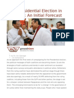 2015 Presidential Election in Sri Lanka an Initial Forecast