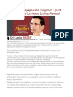 Defeat the Rajapaksha Regime! Joint Statement by Lankans Living Abroad