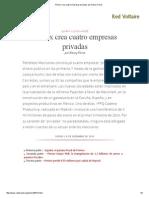 Pemex Crea Cuatro Empresas Privadas