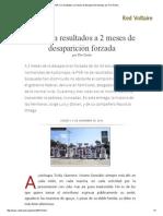 PGR, Sin Resultados a 2 Meses de Desaparición Forzada
