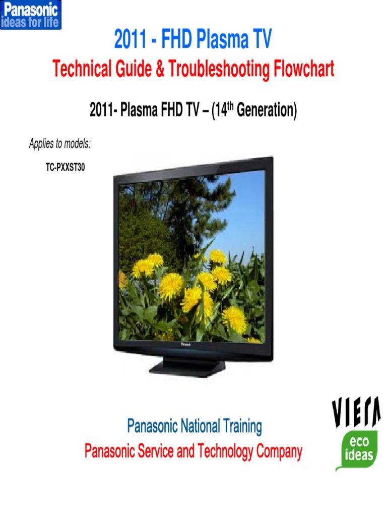 2011 panasonic fhd plasma tv technical guide power supply hdmi rh scribd com 200 Inch Plasma TV panasonic 2012 plasma tv troubleshooting guide