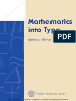 Mathematics into Type