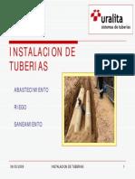 colocacion de tuberia para alcantarillado pluvial y sanitario