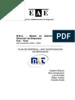 Plan de Empresa de Investigación de Mercados - Tesis MBA EAE Business School