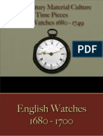 Time Pieces - Gilt Watches 1680 - 1749