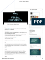 TCS Verbal Questions _ INdiaGeeks