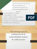 Metodología Para La Estimación de La Vulnerabilidad Sísmica (1)