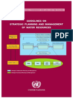 Guidelines on Strategic Planning and Management of Water Resources