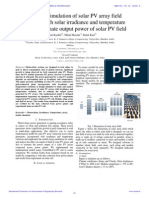 IAETSD-Modelling & Simulation of Solar PV Array Field