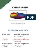 DEMOGRAFI LANSIA