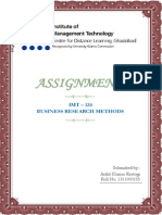 Business Research Methods Imt-120