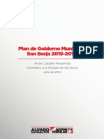 Plan Gobierno San borja 2015