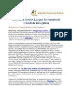 SliderAsia Invites Largest International Trombone Delegation