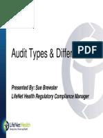 Audit Types Presentation - Sue Brewster
