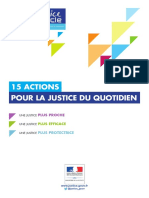 Justice 21, Actions