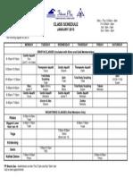 Class Schedule Jan 2015-Tanning, Weight Loss