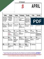 4April15 Calendar