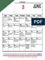 6June15 Calendar