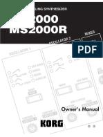 Korg MS2000 Manual