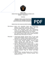 Peraturan Presensi Program Sarjana Ilmu Hukum