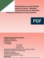 Definiciones Operacionales en Salud Mental