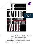 th nature of value