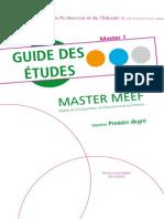 Guide Des Etudes Pe m1 2014