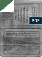 Gritzner V Gebrauchsanleitung