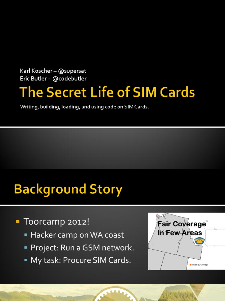 DEFCON 21 Koscher Butler the Secret Life of SIM Cards