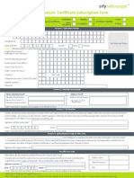 Sify Dsc Form