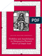Nobility and Annihilation in Marguerite Porete's Mirror of Simple Souls (SUNY Series in Western Esoteric Traditions) 2001