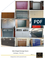 Various Side Hinged Garage Doors in London
