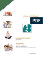 Informe de Verificación Inicial ADRO
