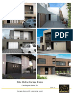 Side Sliding Garage doors with a special personal touch
