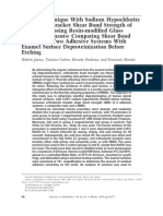 A New Technique With Sodium Hypochlorite to Increase Bracket Shear Bond Strength of Fluoride-releasing Resin-modified Glass Ionomer Cements