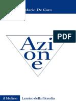 (Lessico Della Filosofia) Mario de Caro_Azione_Il Mulino (2008)