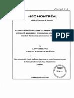 Alliances Stratégiques Dans Les Pays en Développement, Spécificité, Management Et Conditions de Performance Une Étude d'Entreprises Camerounaises Et Burkinabé