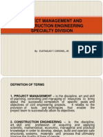 16. Project Management and Construction Engineering Spaecialty Division (1)