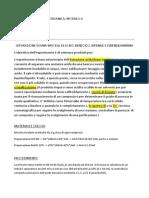 Organica, Modulo a, Relazione 1